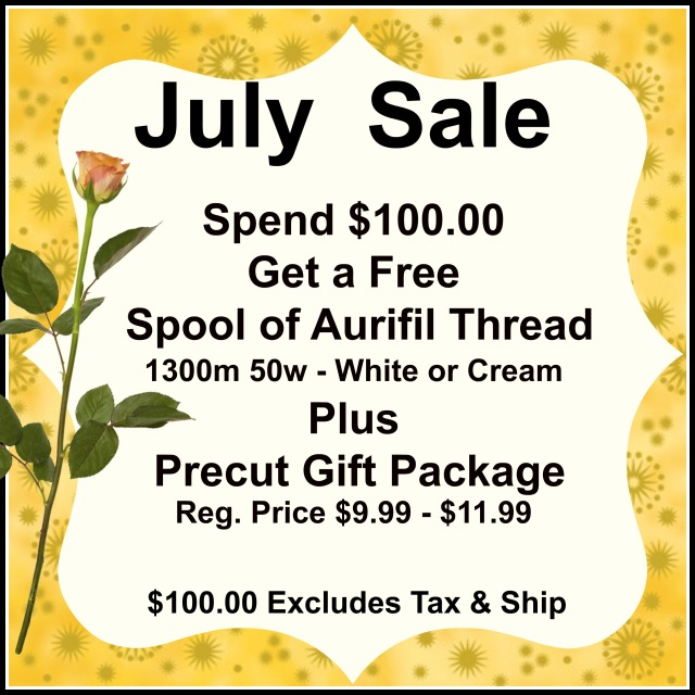 Free Aurifil Thread & Precuts Package .......